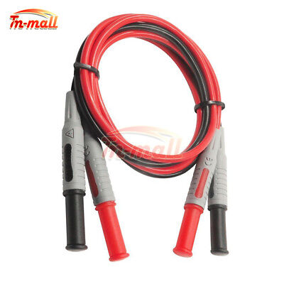P1032 4mm Silicone Banana to Banana Plug Test Cable for Multimeter 1000V 15A