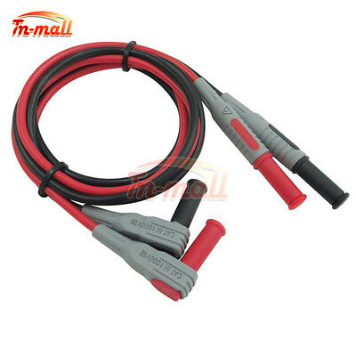 P1033 4mm Banana to Banana Plug Soft Silicone Test Cable Lead for Multimeter