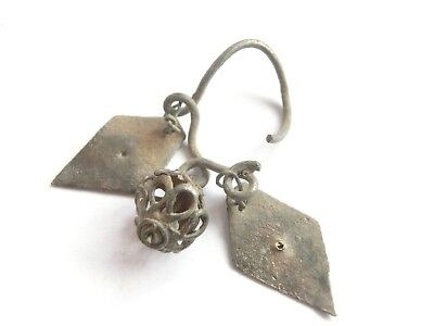 Amazing IRON AGE Hallstatt Culture ANCIENT Celtic Billon EARRING > WEARABLE