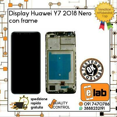 Display Lcd Touch Screen Per Huawei Y7 2018 Con Frame Nero Ldn-L01 Schermo