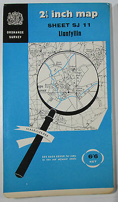 1959 old OS Ordnance Survey 1:25000 First Series Prov Map SJ 11 Llanfyllin 33/11