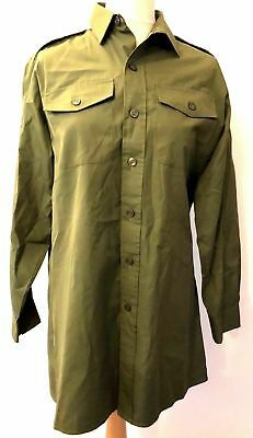 British Military Men's Olive Green Long Sleeved Shirt - Various Sizes