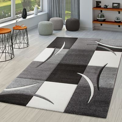 Classic Rug Small Extra Large Rugs Checked Small Extra Large Mats Grey Black New