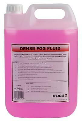 Pulse Dense Fog Fluid 5 Litre Water Based Atmospheric Smoke Effect UK Made