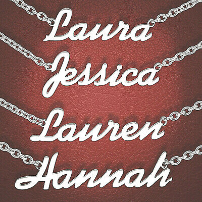 """Personalised Stainless Steel Necklaces - Choose Any Name 15"""" to 19"""" Length"""