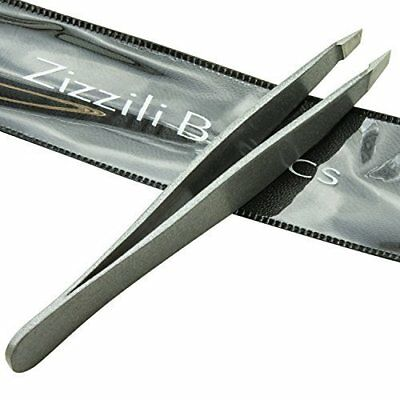 Tweezers - Surgical Grade Stainless Steel - Slant Tip For Expert Eyebrow Shaping