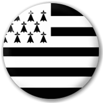 Brittany Flag – 25 Mm Pin Button Badge