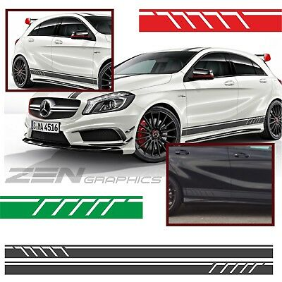 Mercedes A45 A Class W176 AMG Line A160 Side stripes CLEARANCE DARK GREY SALE