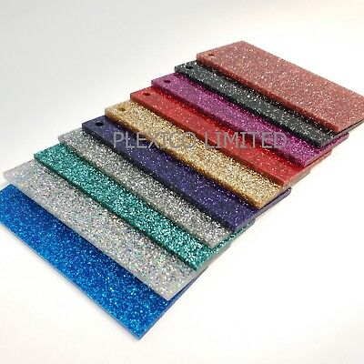 Glitter Acrylic Sheets 3mm A4 / Sized Great For Laser Craft / DIY / Perspex