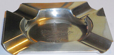 Solid 925 Silver Mappin And Webb Ash Tray Hallmarked 1944
