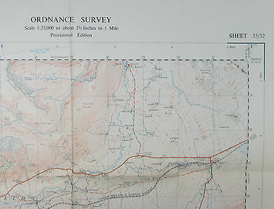 1950 old OS Ordnance Survey 1:25000 First Series Prov Map NY 32 Threlkeld 35/32