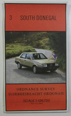 Old Vintage 1985 OS Ordnance Survey of Ireland Half-Inch Map 3 South Donegal