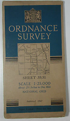 1947 old OS Ordnance Survey 1:25000 First Series Prov Map NY 31 Thirlmere 35/31