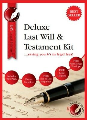 LAST WILL AND TESTAMENT KIT  2019-20  'DELUXE' Edition, also valid in Scotland.