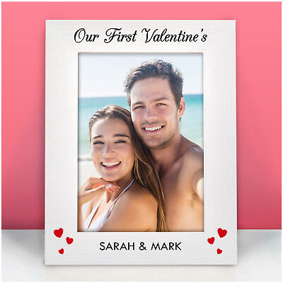 PERSONALISED First Valentines Gifts for Girlfriend Boyfriend Her Photo Frames