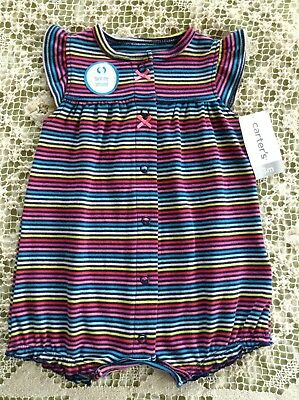 132472b723 NWT Carter s Infant Baby Girls Romper One Piece Body Suit Size 3 Months