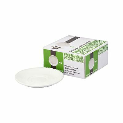 "Professional Dinnerware Stacking Saucer 6"" (15cm) Pack of 6"