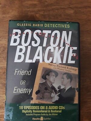 Boston Blackie : Friend or Enemy (2009, CD) Classic Radio 16 Episodes 7 CD's