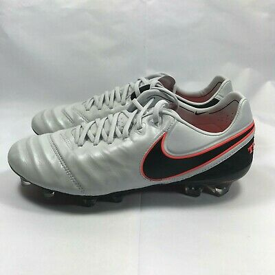 newest 6fc05 dc732 Nike Tiempo Legend Vi 6 FG Pure Platinum black Silver Men Size 7.5  819177-