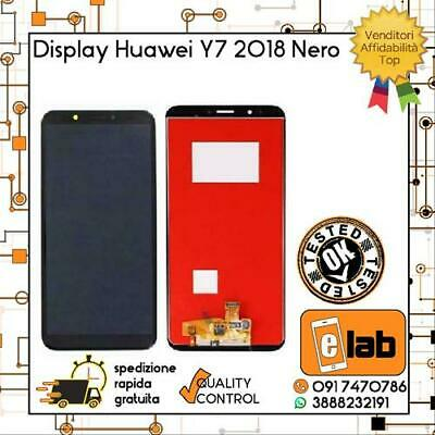 Display Lcd Touch Screen Per Huawei Y7 2018 Nero Ldn-L01 Schermo Vetro