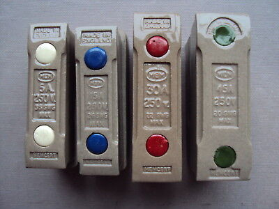 Mem Memcert 5A 15A 30A 45A Rewireable Fuse Assembly With Or Without Carrier Base