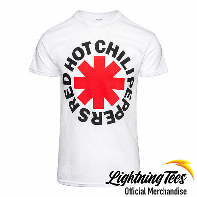 Official Red Hot Chili Peppers Logo Rock Band White T-Shirt