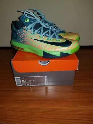 c8ae37158ff NICE Nike KD VI 6 TIGER Electric Green SIZE 9.5 Kevin Durant 599424-302