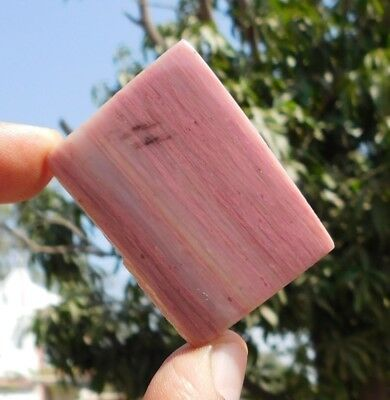 100.6 Cts  Pink Calcite 46X33X5mm Slice Loose Cabochon Gemstone