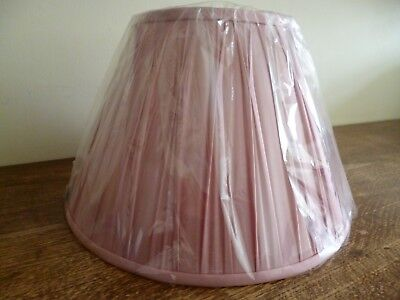 Laura Ashley Large Pink Silk Pleated Lamp Shade N U