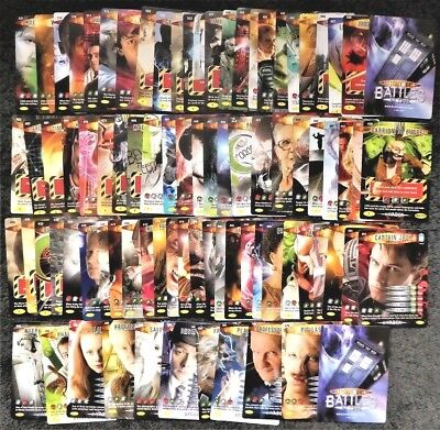 Bundle Lot of 140+ Doctor Who Invader Common, Rare, Super Rare Trading Cards