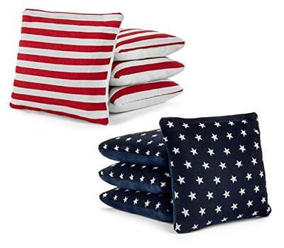 Stars Stripes Pro-Style Cornhole Bags Slick /& Stick Resin Filled Suede /& Canvas