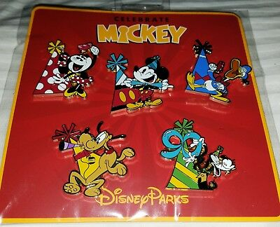 Disney Pins Celebrate Mickey's 90th Birthday Booster Pack AUTHENTIC FREE SHIP