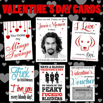 Funny Rude Valentines Day Greeting Cards Him Her Couple Partner Cheeky Naughty
