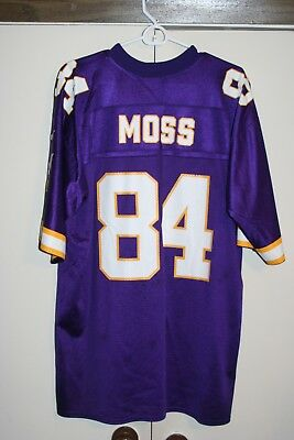 Puma VTG Minnesota Vikings Randy Moss #84 Football Jersey Men Large Home NFL NFC