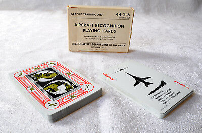Aircraft Recognition Playing Cards - Kartenspiel - U.S. Army Original - 1979