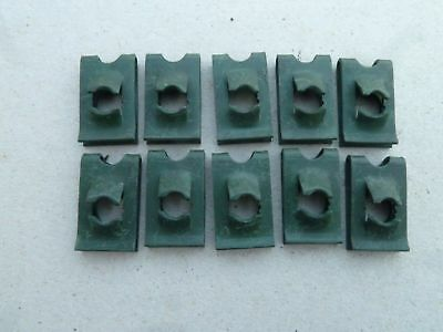 Army Metal U Screw Clips U- Type M35 Serie Land Rover Dodge WC CCKW Lot of 10