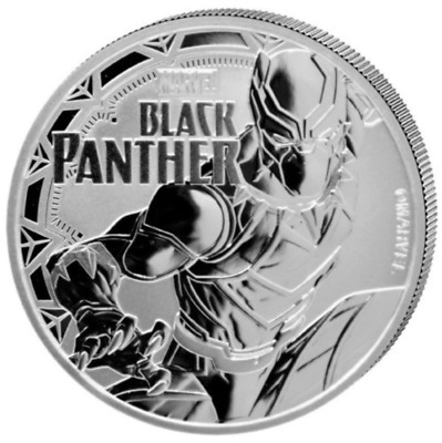 1 oz Silver Coin Black Panther™ Marvel™ 2018 Tuvalu Pure 9999 Silver PERTH MINT