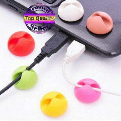 10pcs/Wire retainer Round Clip Cable Winder lot Earphone