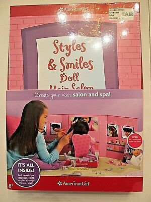American Girl_Doll HAIR SALON PLAY SET_Style Book + CD & Accessories_NEW *SALE*