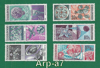 Czechoslovakia 1945-1992 series of stamps Mi: 1651/56 MNH ** 1966 Space Research