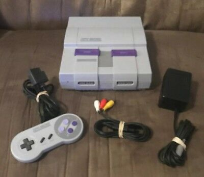 Official Super Nintendo SNES Console, Wires & Controller! ~ Very Good Condition!