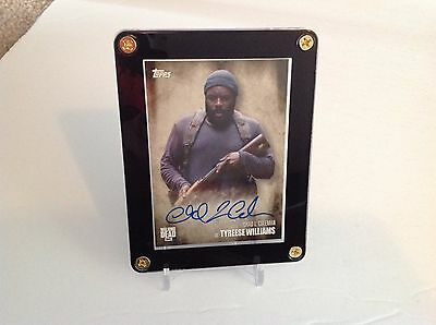 The Walking Dead Tyreese Williams Chad L. Coleman Season 5 Autograph Card