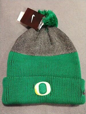 61d295960c7 Nike Oregon Ducks New Day Pom Beanie Cap Knit Hat Adult One Size College  NCAA
