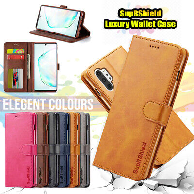 Samsung Galaxy Note 10+ 5G 8 9 S10 S9 S8 Plus Flip Leather WALLET Case Cover