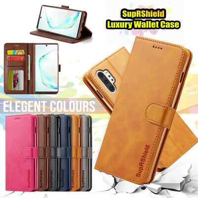 Samsung Galaxy S10 5G S9 S8 Plus Note 9 8 Flip Magnet Leather WALLET Case Cover