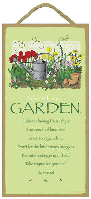 Advice From a Garden Cultivate Friendships Gift 10x5 Sign NEW 639 no vining
