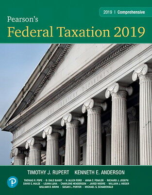 Pearson's Federal Taxation 2019 Comprehensive (32nd Edition) PDF, Free TESTBANK