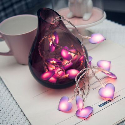 Gifts Party Lighting Garland Cloth Love Heart LED Lamp Fairy Light String