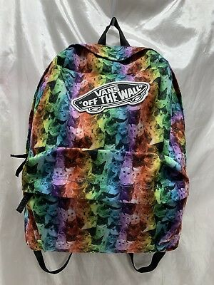 a15d886c1954 VANS OFF THE Wall ASPCA Rainbow Cat Kittens Backpack Daypack RARE ...