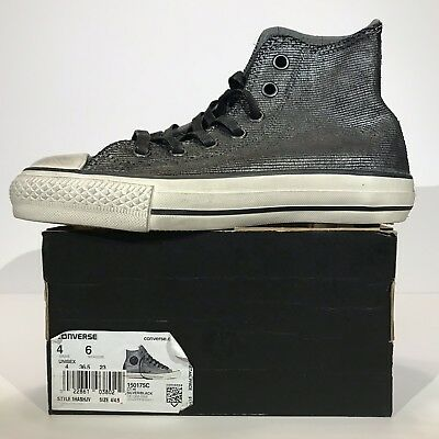 8196e57aed8e New Converse x John Varvatos CTAS Hi Painted Shine Black silver 150175C Mens  4